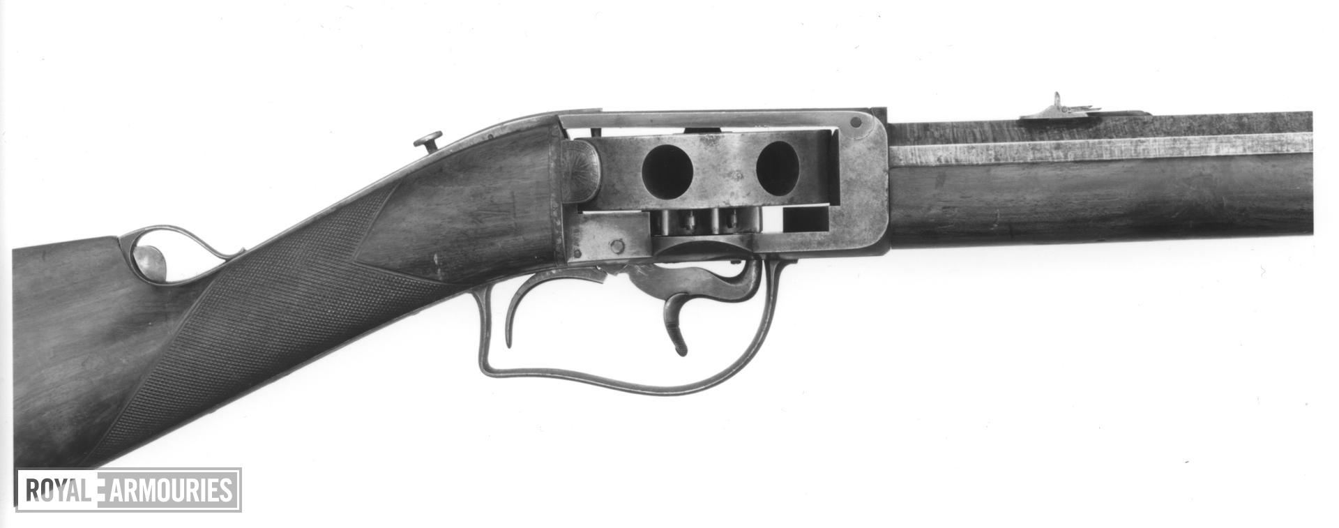 Percussion turret rifle - Wilkinson and Son turret rifle By Wilkinson and Son