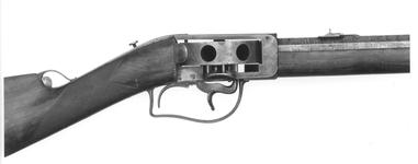 Thumbnail image of Percussion turret rifle - Wilkinson and Son turret rifle By Wilkinson and Son