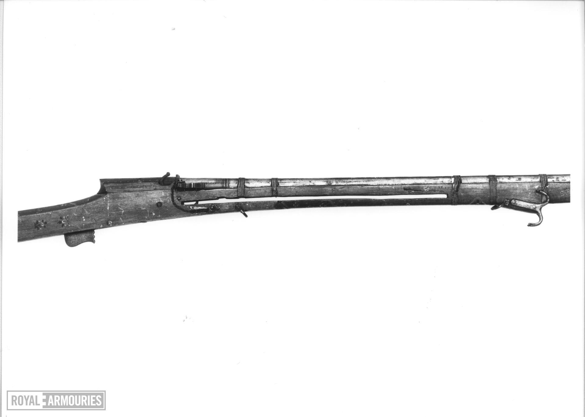 Matchlock combination bow and musket
