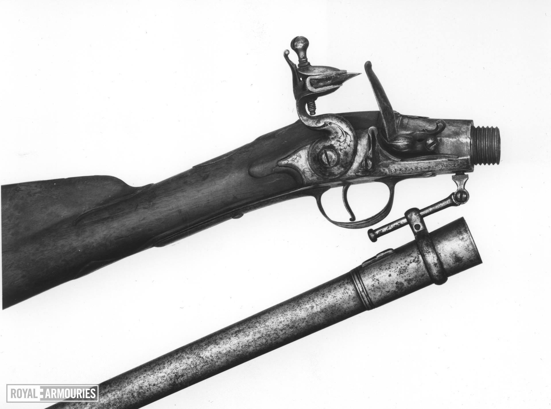 Flintlock muzzle-loading carbine - By Henry Delaney