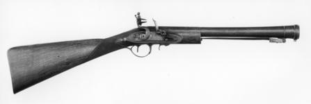 Thumbnail image of Flintlock muzzle-loading blunderbuss - By Wheeler