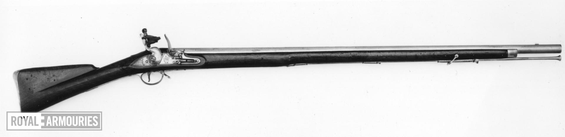 Flintlock muzzle-loading military musket - Model 1793 India Pattern (Type I) Early model