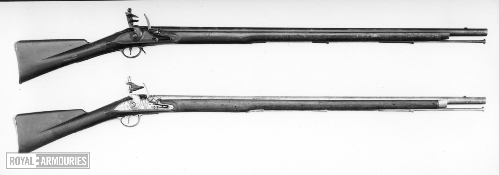 Flintlock muzzle-loading military musket - Model 1793 India Pattern (Type I)