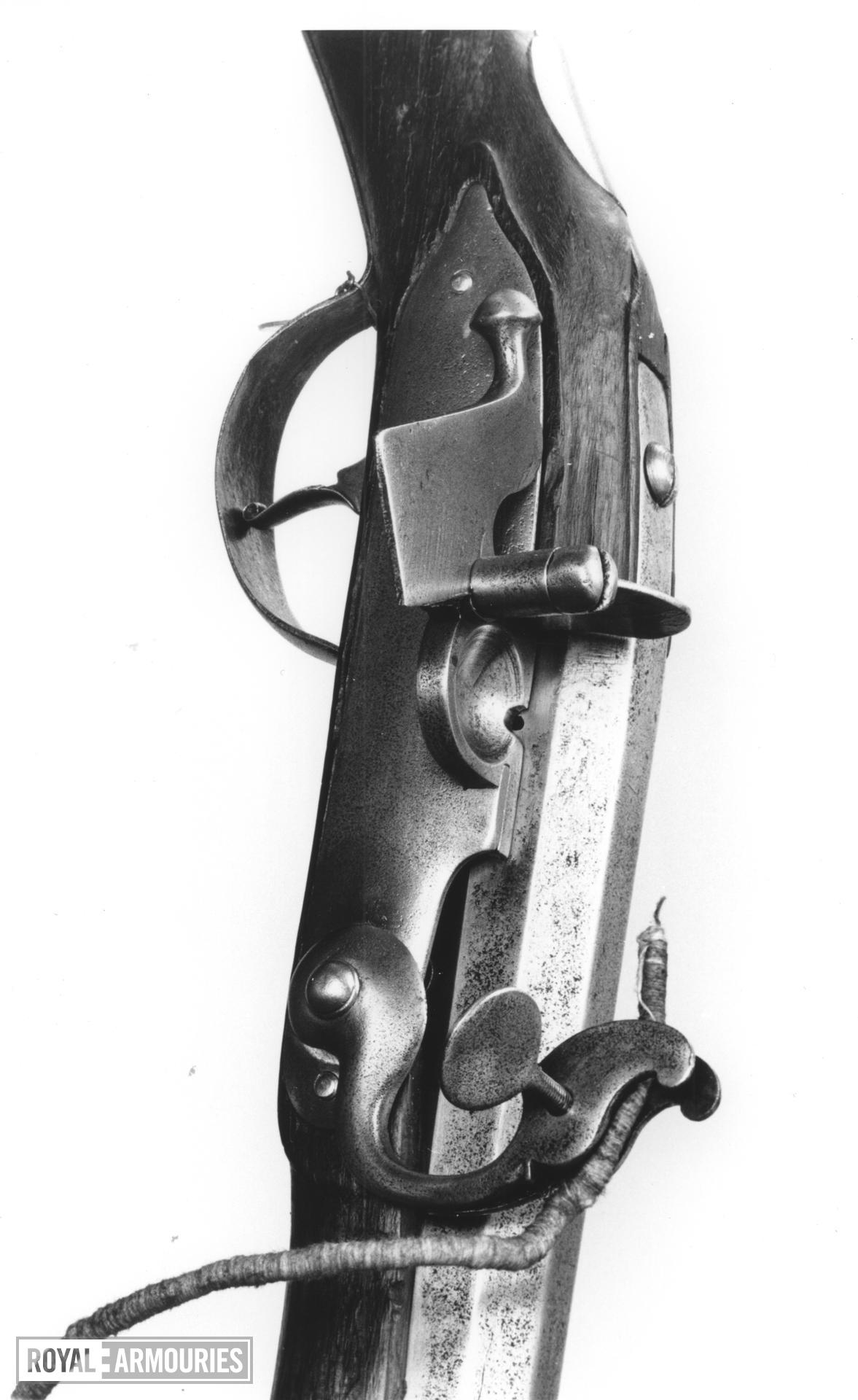 Matchlock muzzle-loading musket - William III Pattern Service type.