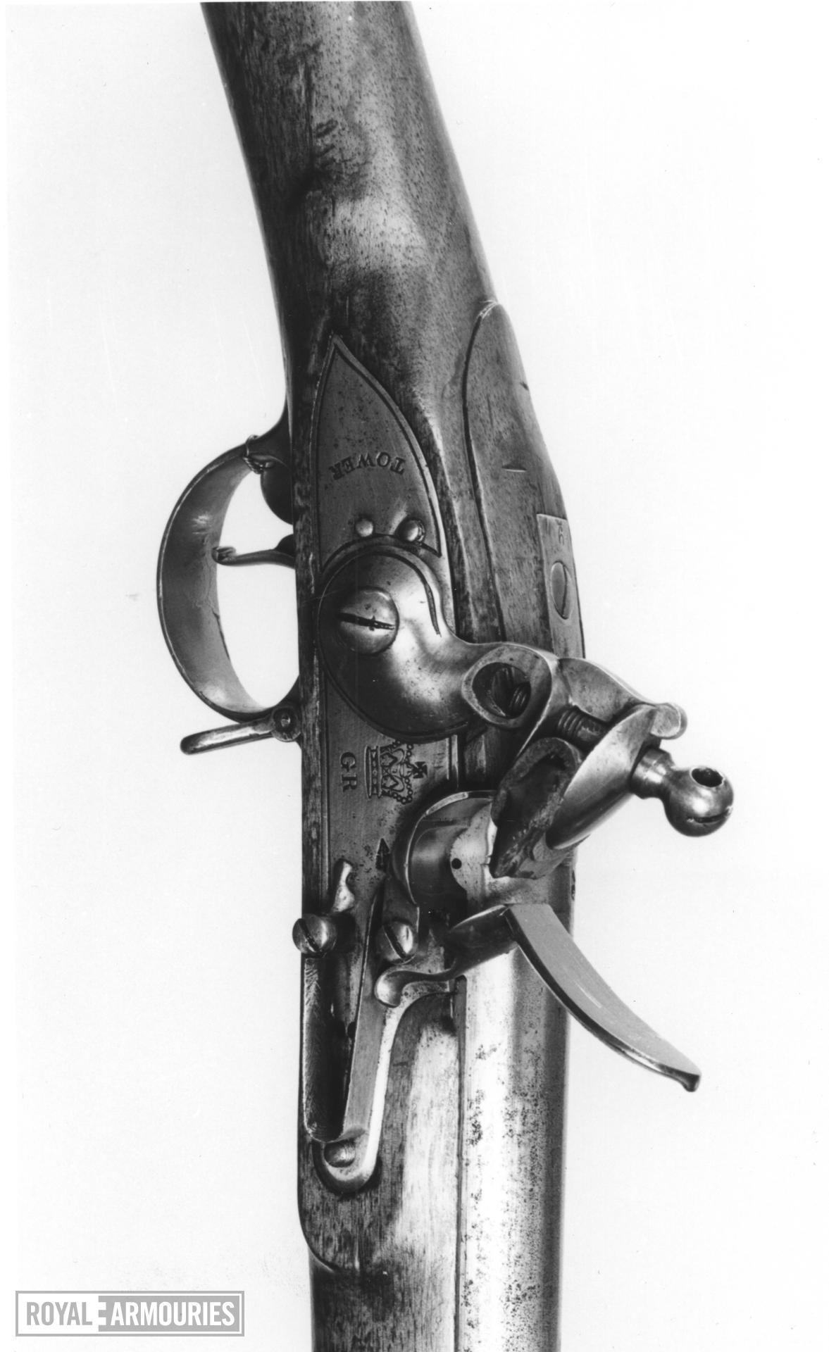 Flintlock muzzle-loading military musket - India Pattern