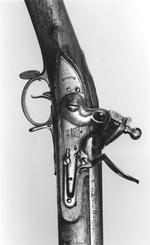 Thumbnail image of Flintlock muzzle-loading military musket - India Pattern