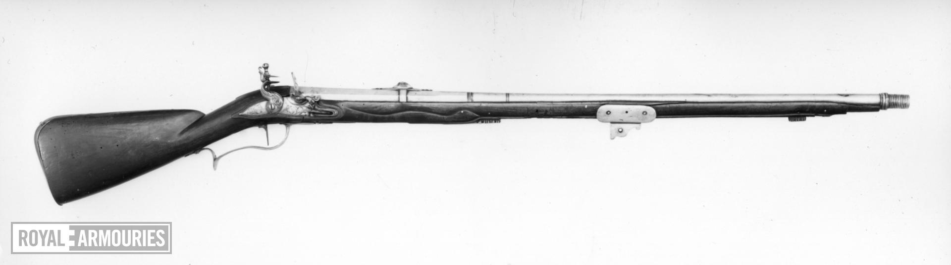 Flintlock military grenade discharger