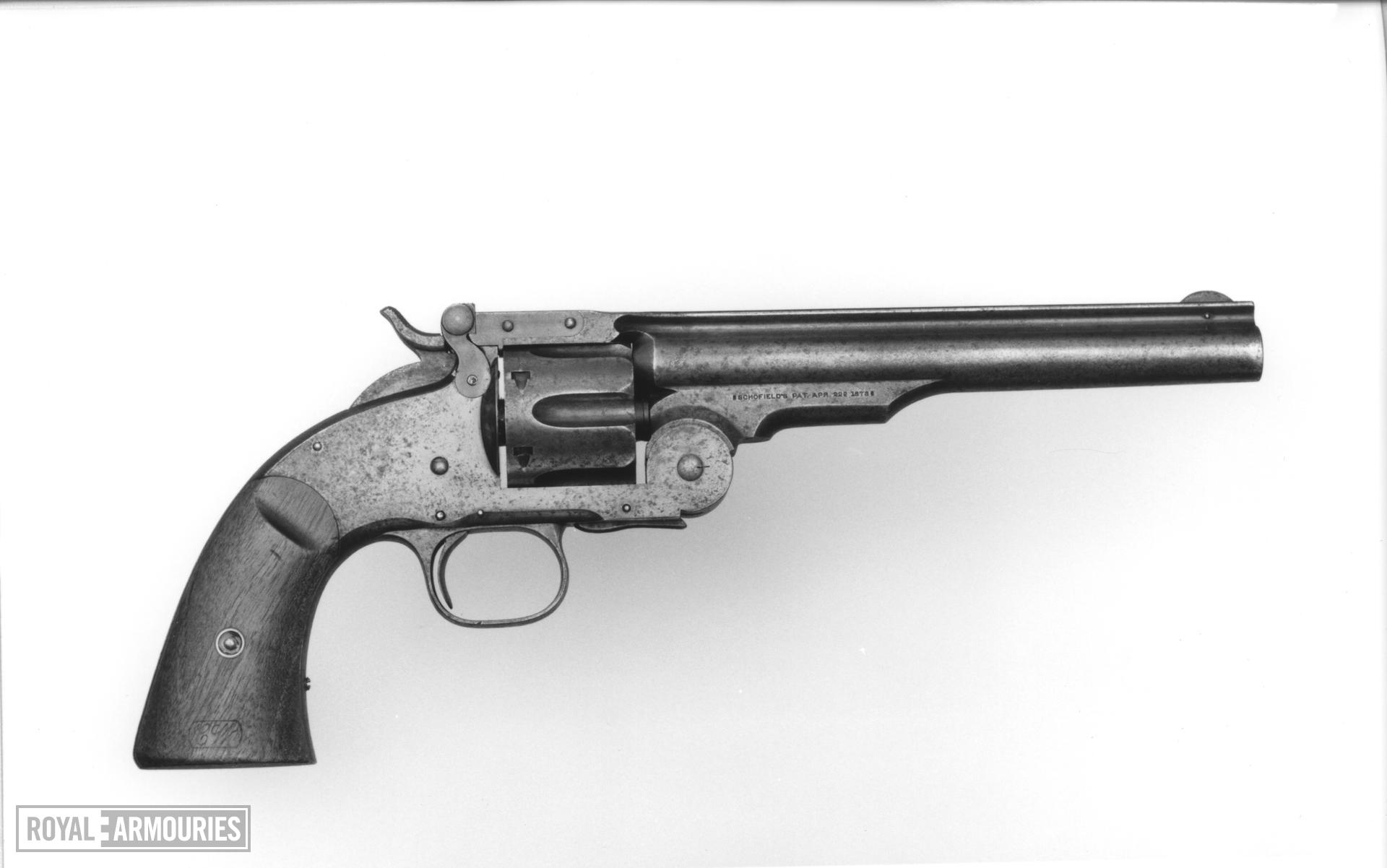 Centrefire six-shot revolver - Schofield Smith and Wesson 2nd Model