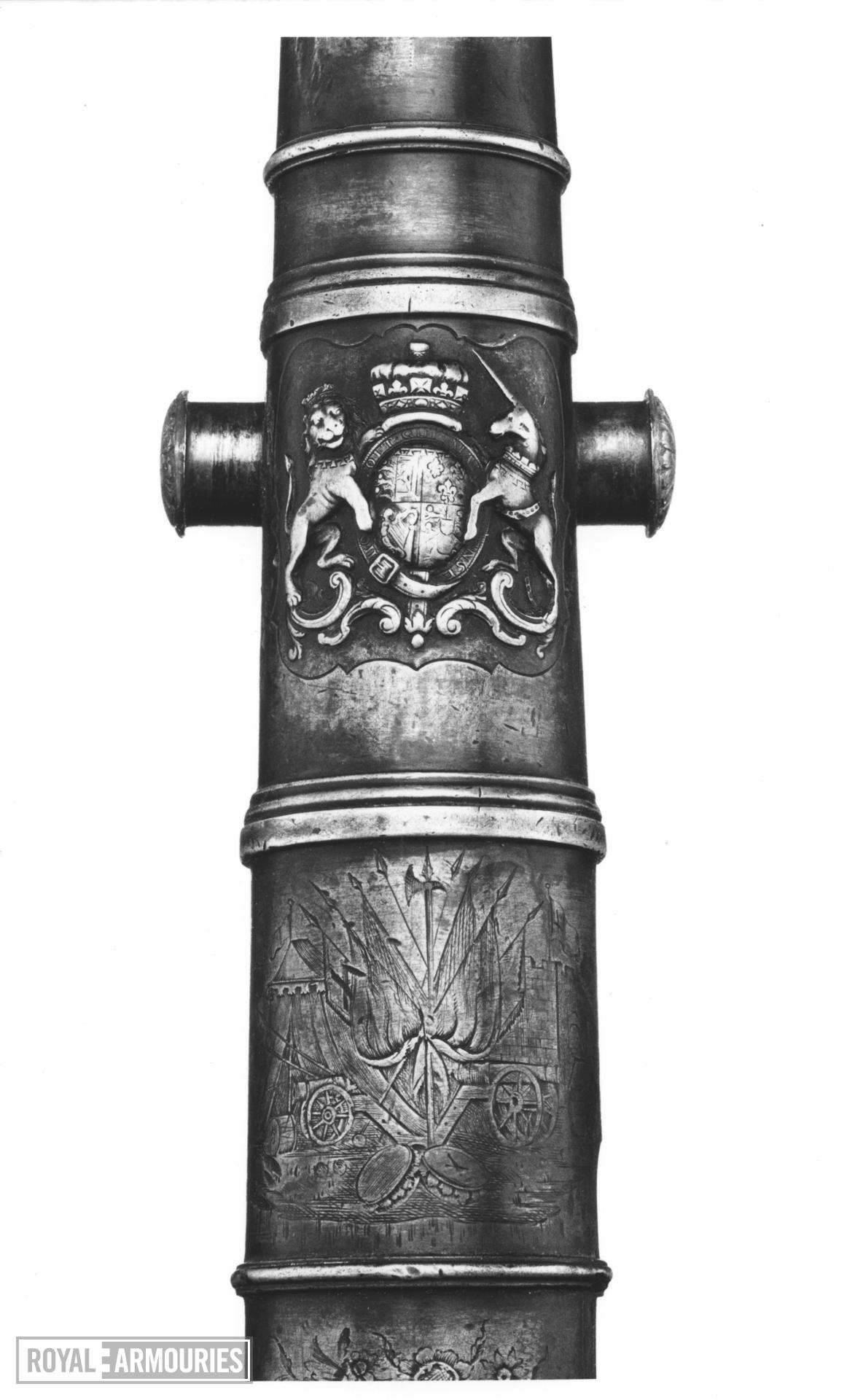 Miniature bronze gun One of two small cannon by W.Shepherd (see also XIX.315)
