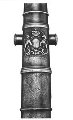 Thumbnail image of Miniature bronze gun One of two small cannon by W.Shepherd (see also XIX.315)