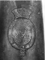 Thumbnail image of 4 pr gun Made of bronze Cast by P. Verbruggen One of two bronze guns (cf. XIX.45)