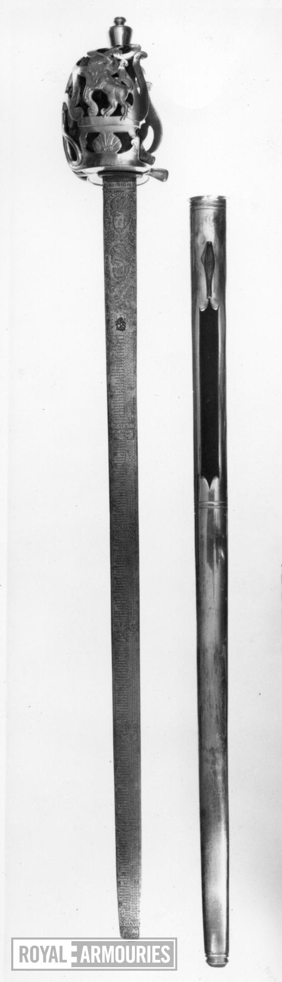 Sword and scabbard Heavy Cavalry Officer's sword and scabbard