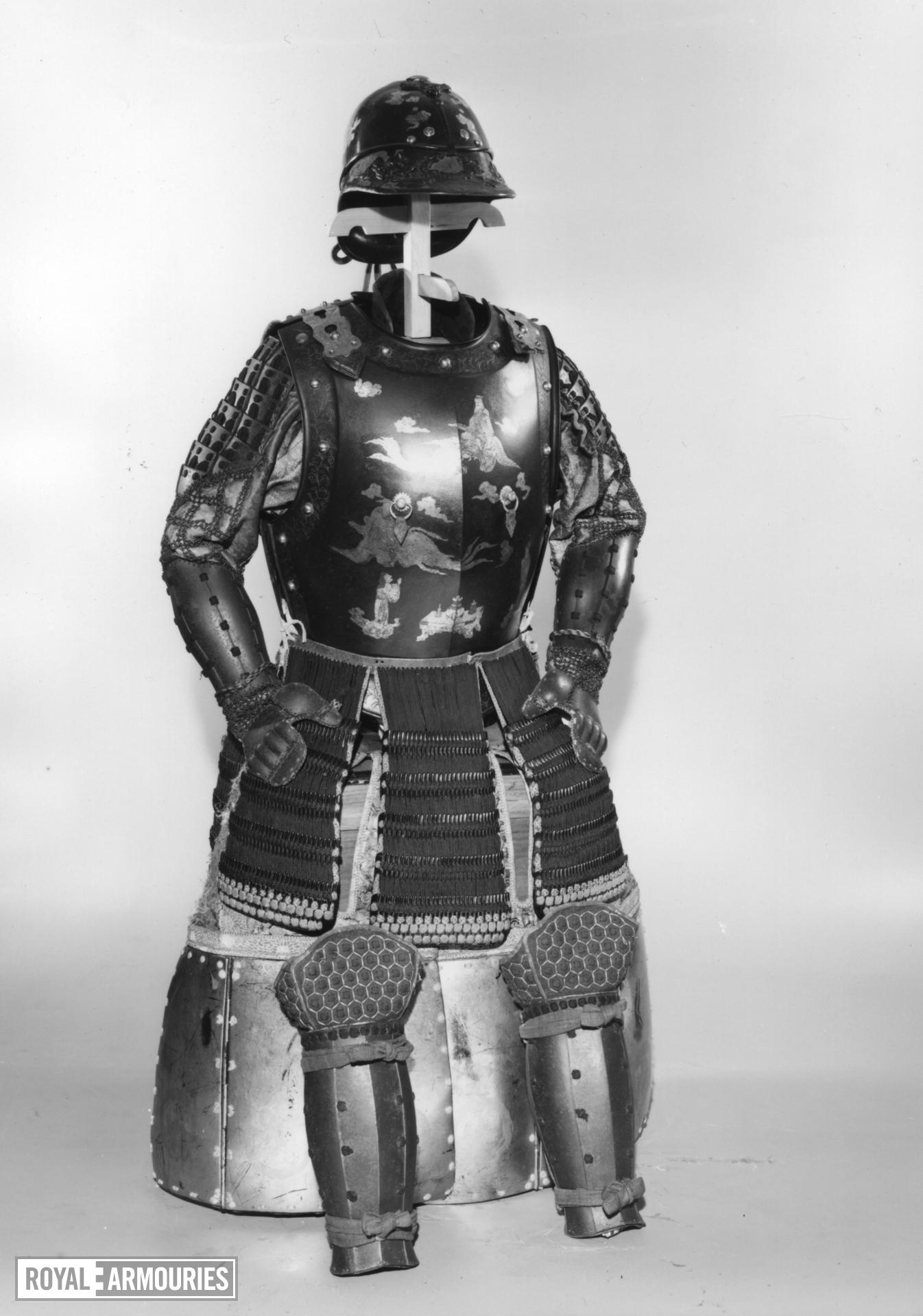 Armour (namban gosoku) made from a French cuirassier's armour