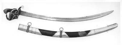 Thumbnail image of Sword and Scabbard British military sword grenade on hilt + scabbard