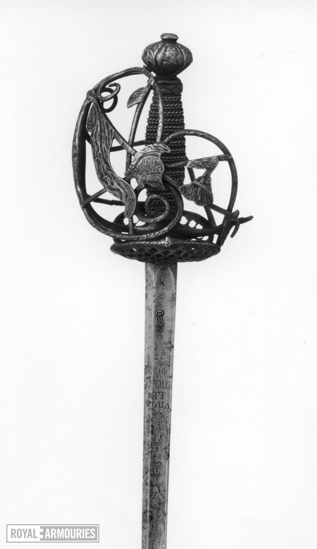 Sword Basket hilt Cavalry sword