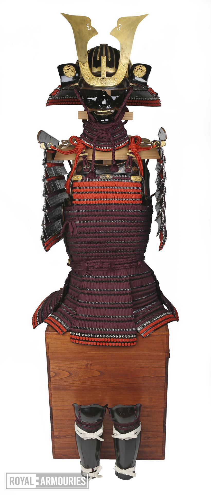 Armour (domaru) presented to King James I by Tokugawa Hidetada in 1613. Japanese, about 1610. Made by Iwai Yozaemon of Nambu (XXVIA.1)