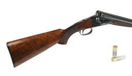 Thumbnail image of Centrefire double-barelled shotgun. Winchester Model 21 'Standard'. the 'Biggles' gun. XII.11890