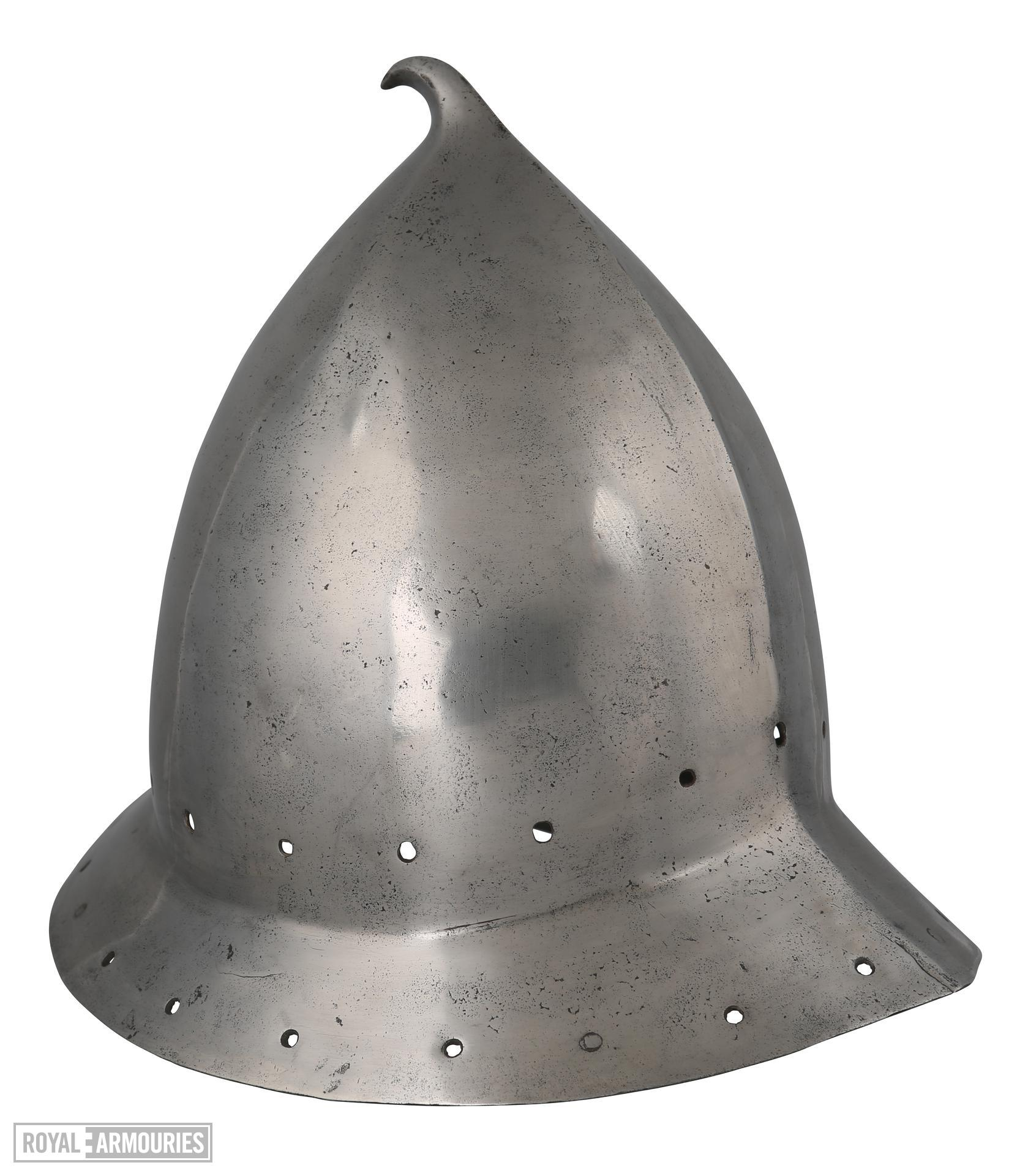 Capacete (helmet), Spanish, or Italian for the Spanish market, about 1470
