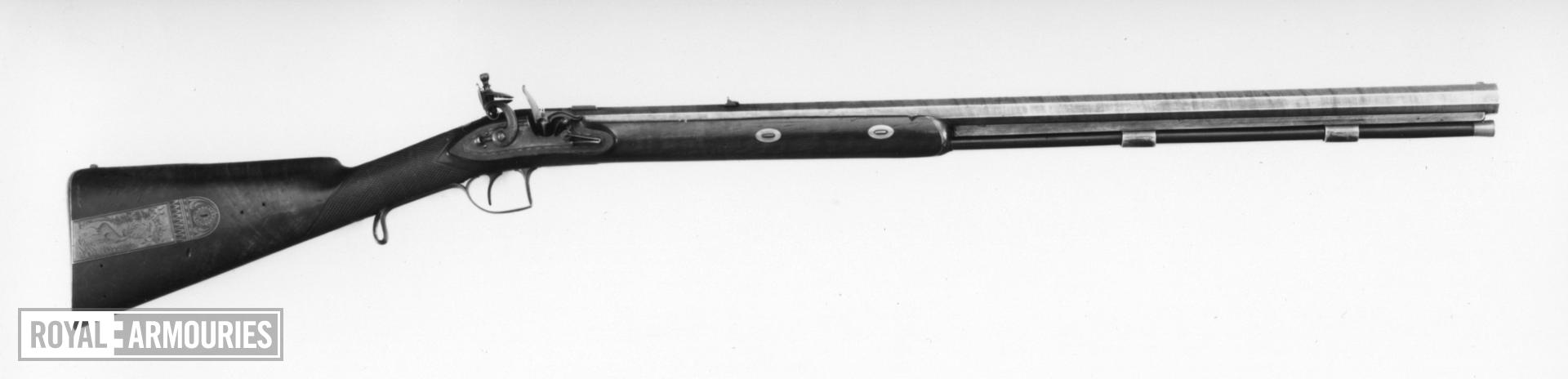 Flintlock muzzle-loading presentation rifle - By Tatham Made as official government gifts.