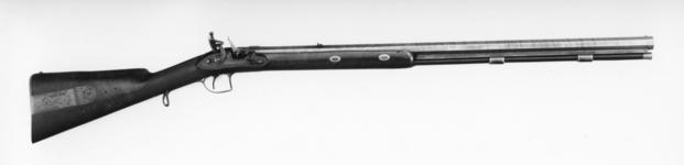 Thumbnail image of Flintlock muzzle-loading presentation rifle - By Tatham Made as official government gifts.