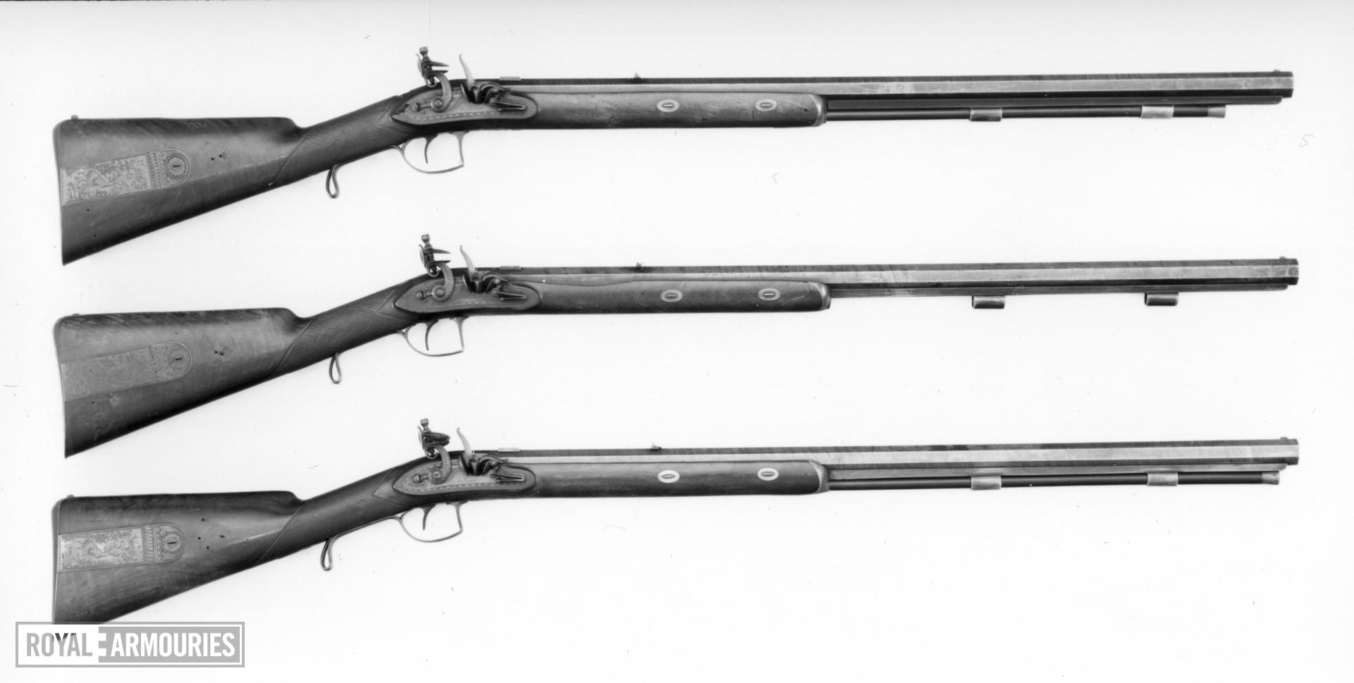 Flintlock muzzle-loading presentation rifle - By Tatham Part of a set of rifles made as official government gifts.