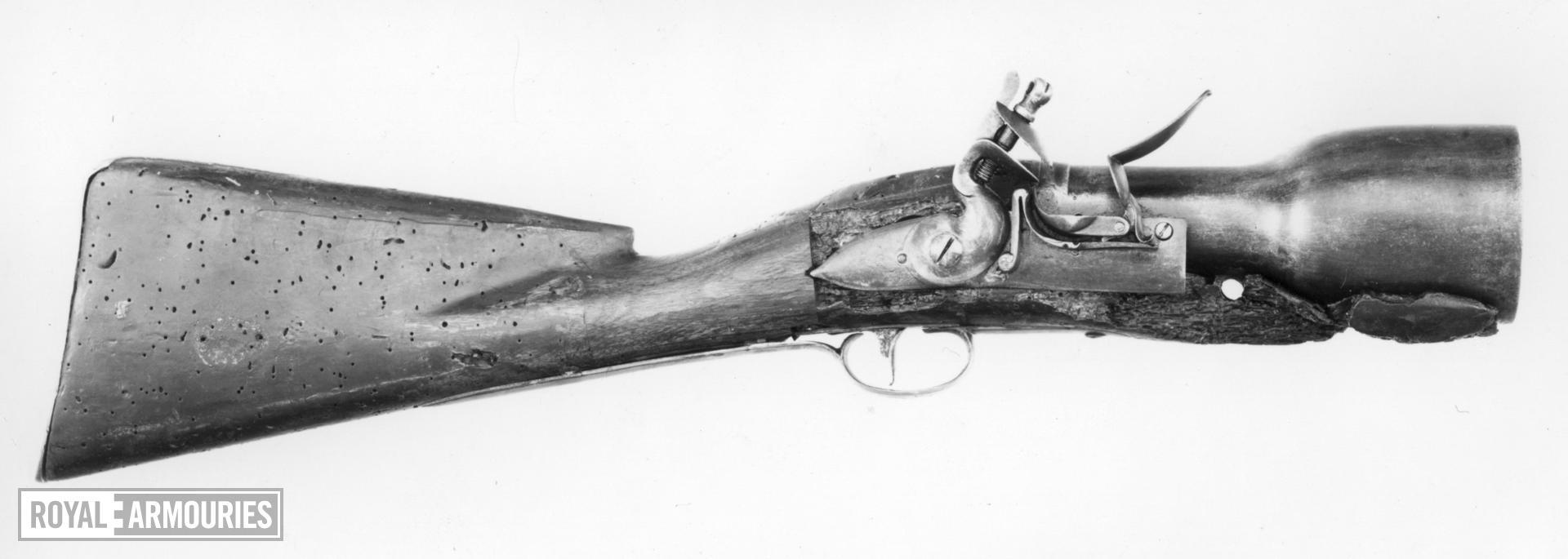 Flintlock military grenade discharger - Unknown