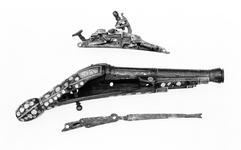 Thumbnail image of Snaphaunce muzzle-loading pistol - N/A Snaphaunce muzzle-loading pistol, about 1600.