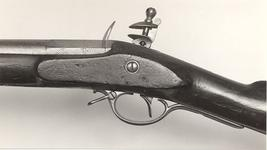 Thumbnail image of Flintlock muzzle-loading carbine - By Henry Nock With Nock screwless lock
