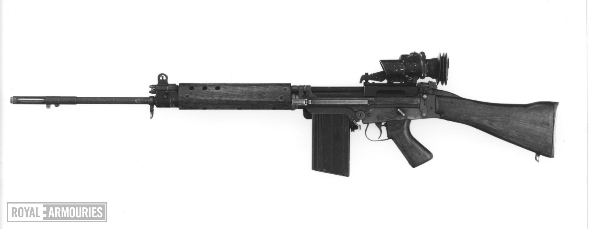 Centrefire self-loading magazine military rifle - L1A1 rifle