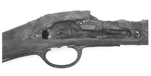 Thumbnail image of Flintlock muzzle-loading military musket - Lawrence Pattern Of East India Company Stock only