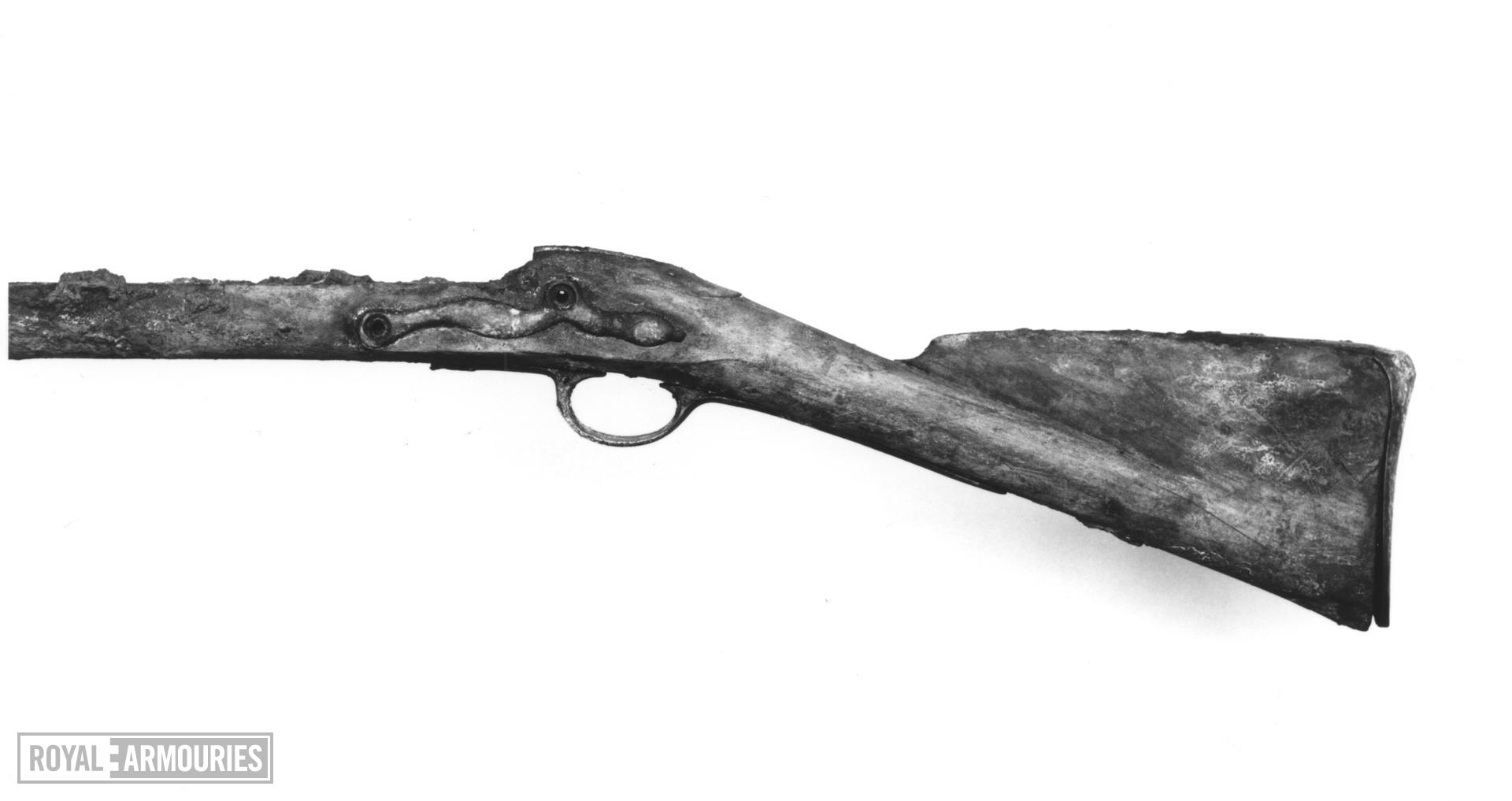 Flintlock muzzle-loading military musket - Lawrence Pattern Of East India Company Stock only