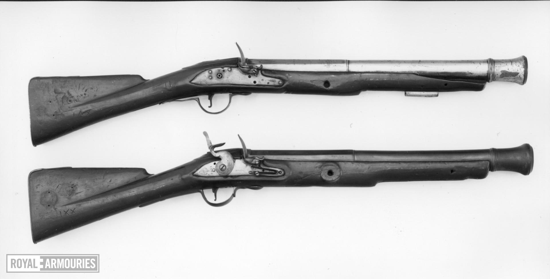 Flintlock muzzle-loading military musketoon - Sea Service Pattern
