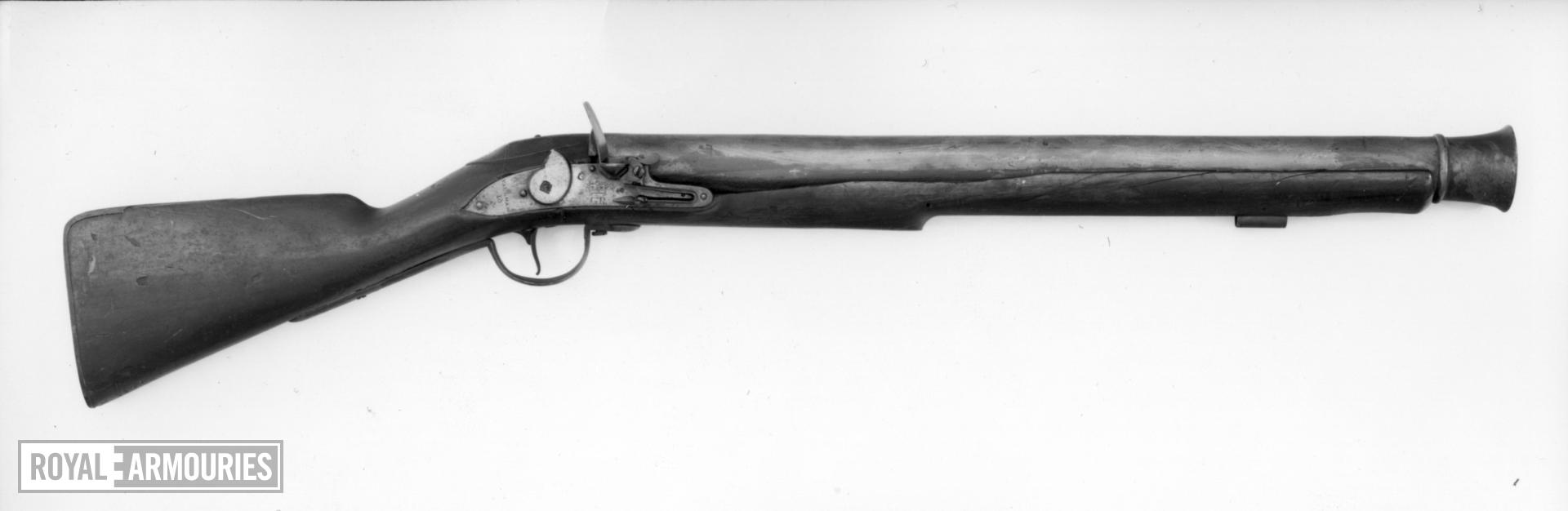 Flintlock military musketoon Lock and stock dated 1720