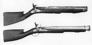 Thumbnail image of Flintlock military musketoon - By Jan Maliman Also known as Langridge Gun