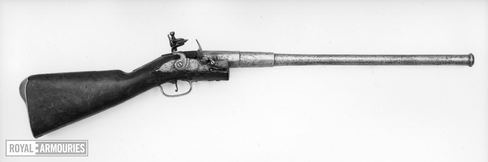 Flintlock breech-loading carbine - By T. Banks