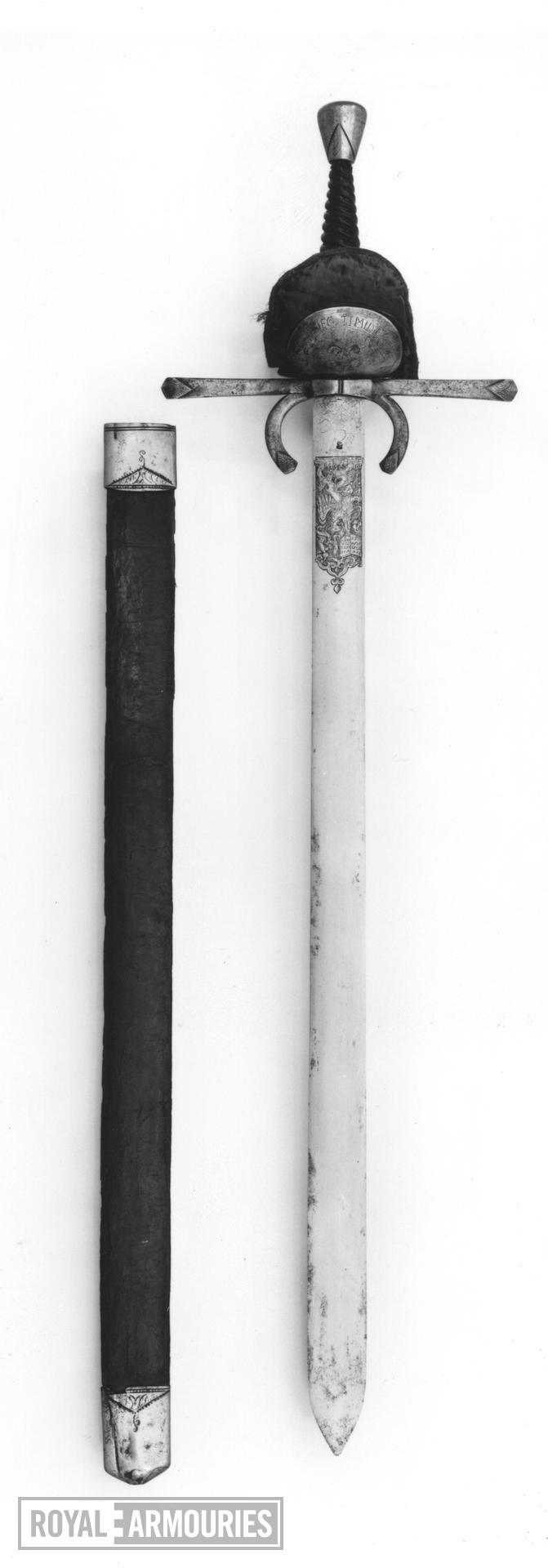 Sword and Scabbard Bearing sword and scabbard