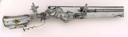 Thumbnail image of Wheellock double-barrelled pistol/carbine - Unknown Over an under barrels