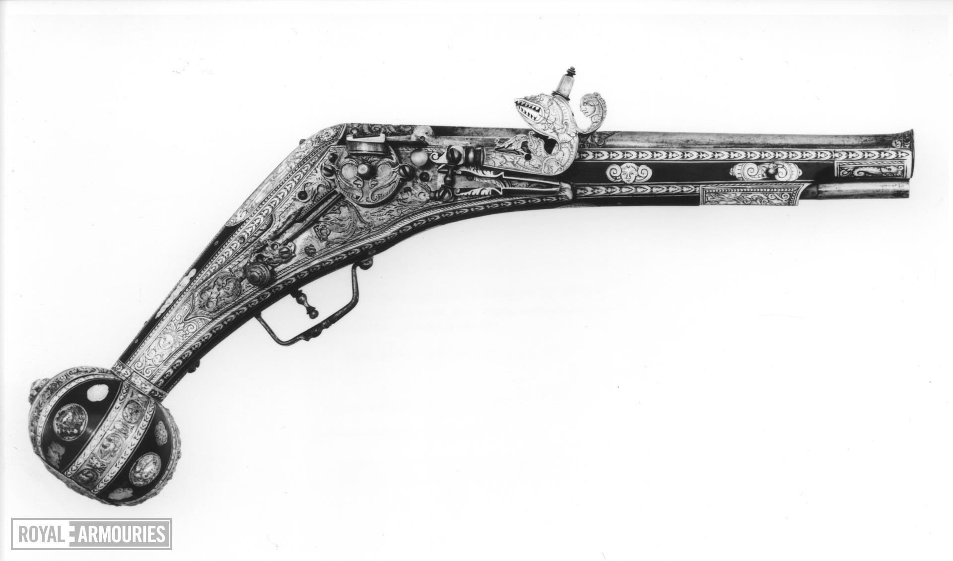 Wheellock holster pistol Lock by Wolf Stopler