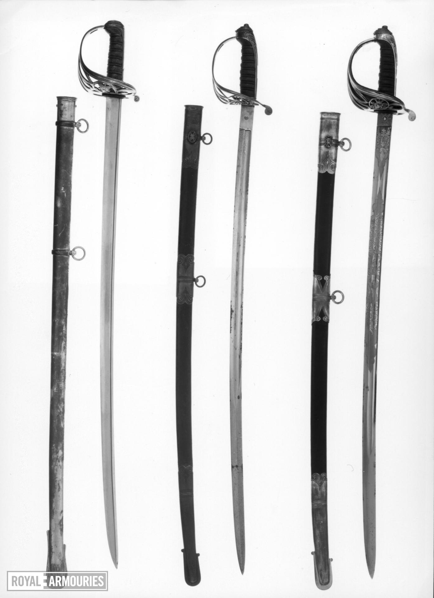 Sword and scabbard Infantry Officer's sword, Pattern 1822/1845.