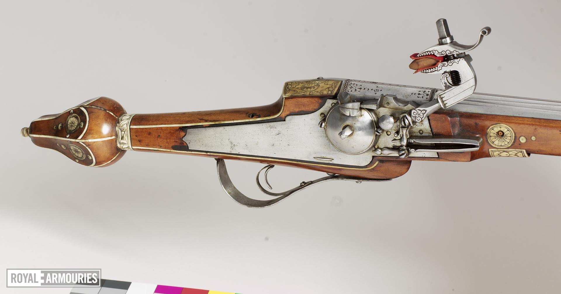 Wheellock muzzle-loading holster pistol - Barrel by Simon Helbig