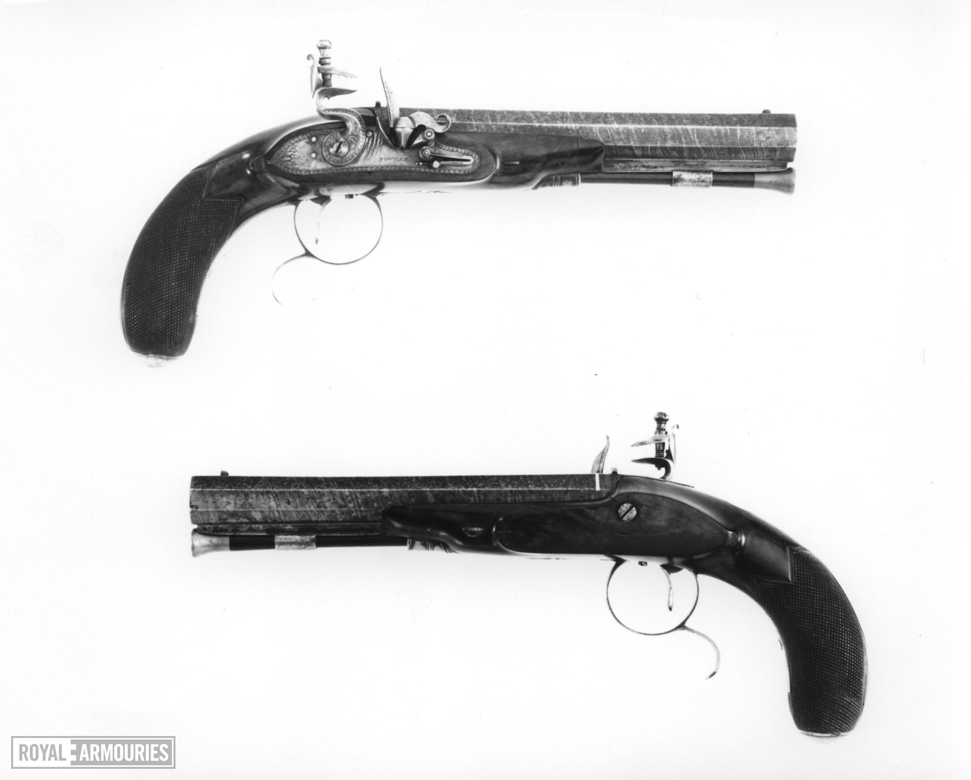 Flintlock pistol By Fowler One of a pair; see XII.1345