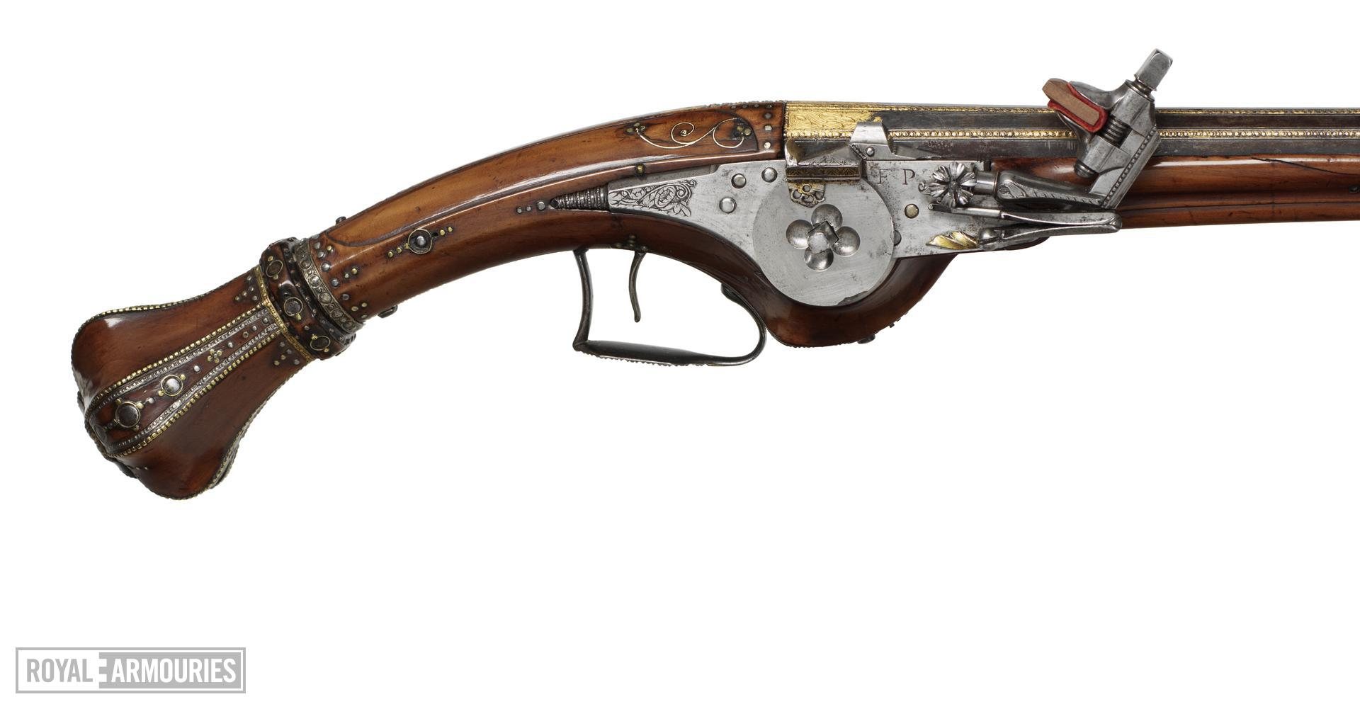 Flintlock pistol By Lazarino Cominazzo One of a pair see XII.1563 Made for Ernst August, Duke of Saxe-Weimar-Eesenach