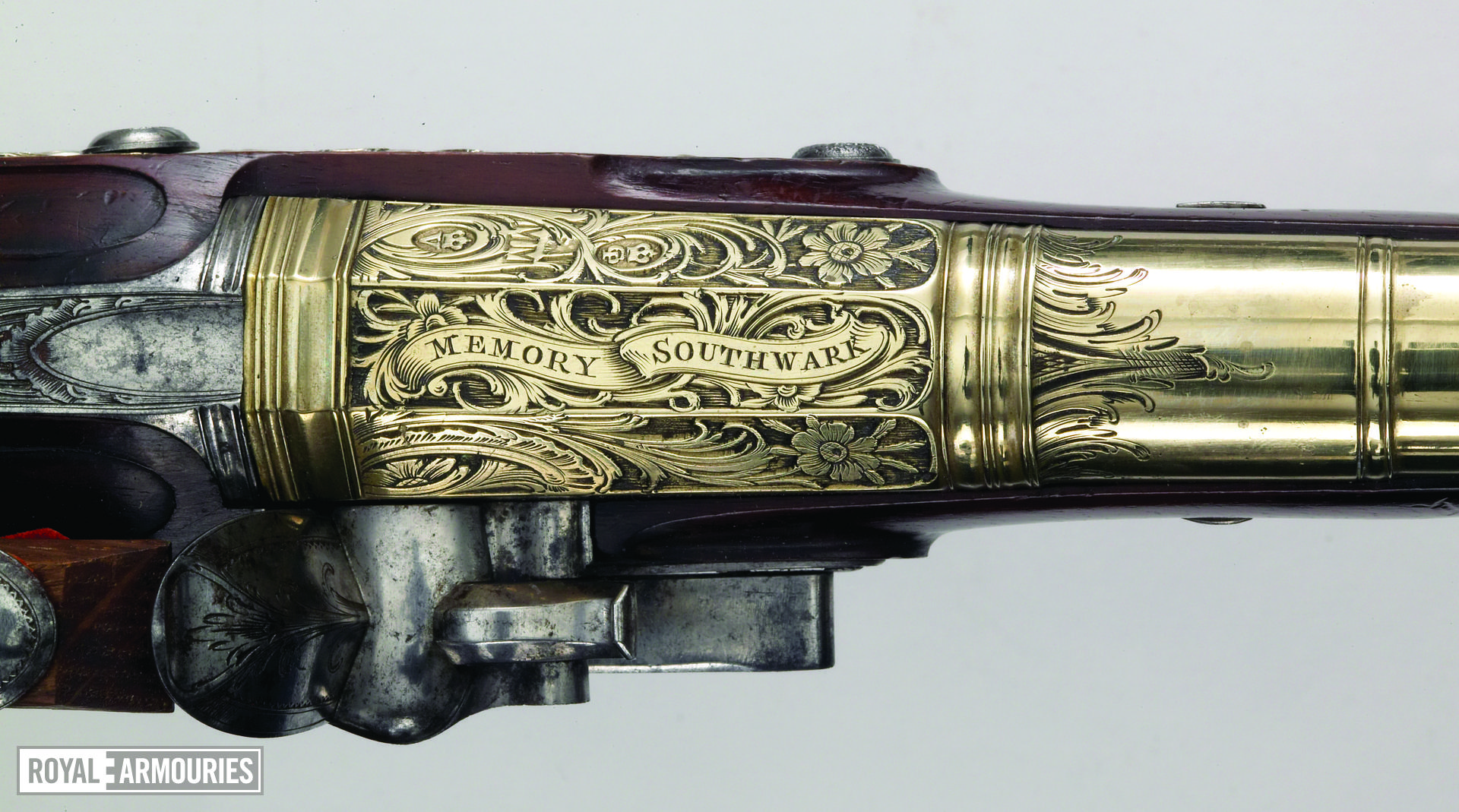 Flintlock holster pistol Probably by John Kidder One of a pair; see XII.1657