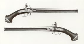 Thumbnail image of Flintlock double-barrelled pistol By Harman Barne One of a pair see XII.4744