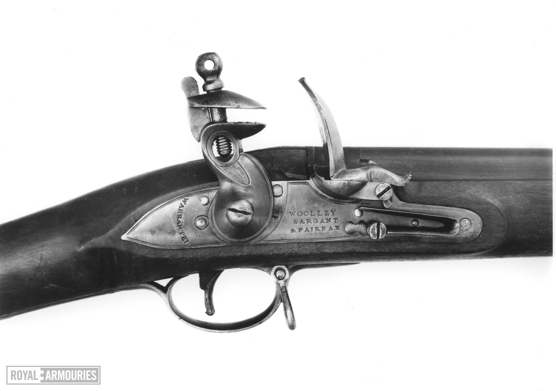 Flintlock muzzle-loading carbine - By Woolley, Sargant and Fairfax Part of a Chest of Arms, see XVIII.467