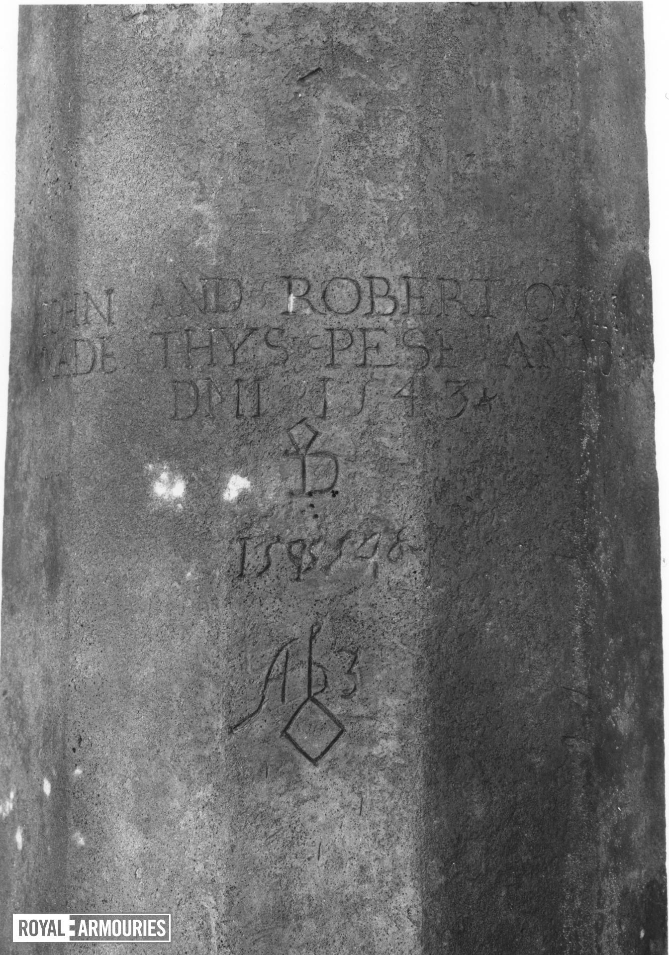 3.7 in saker Made of bronze By John and Robert Owen