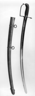 Thumbnail image of Sabre and scabbard Boy's sabre (A) and scabbard (B), Roi de Rome French.