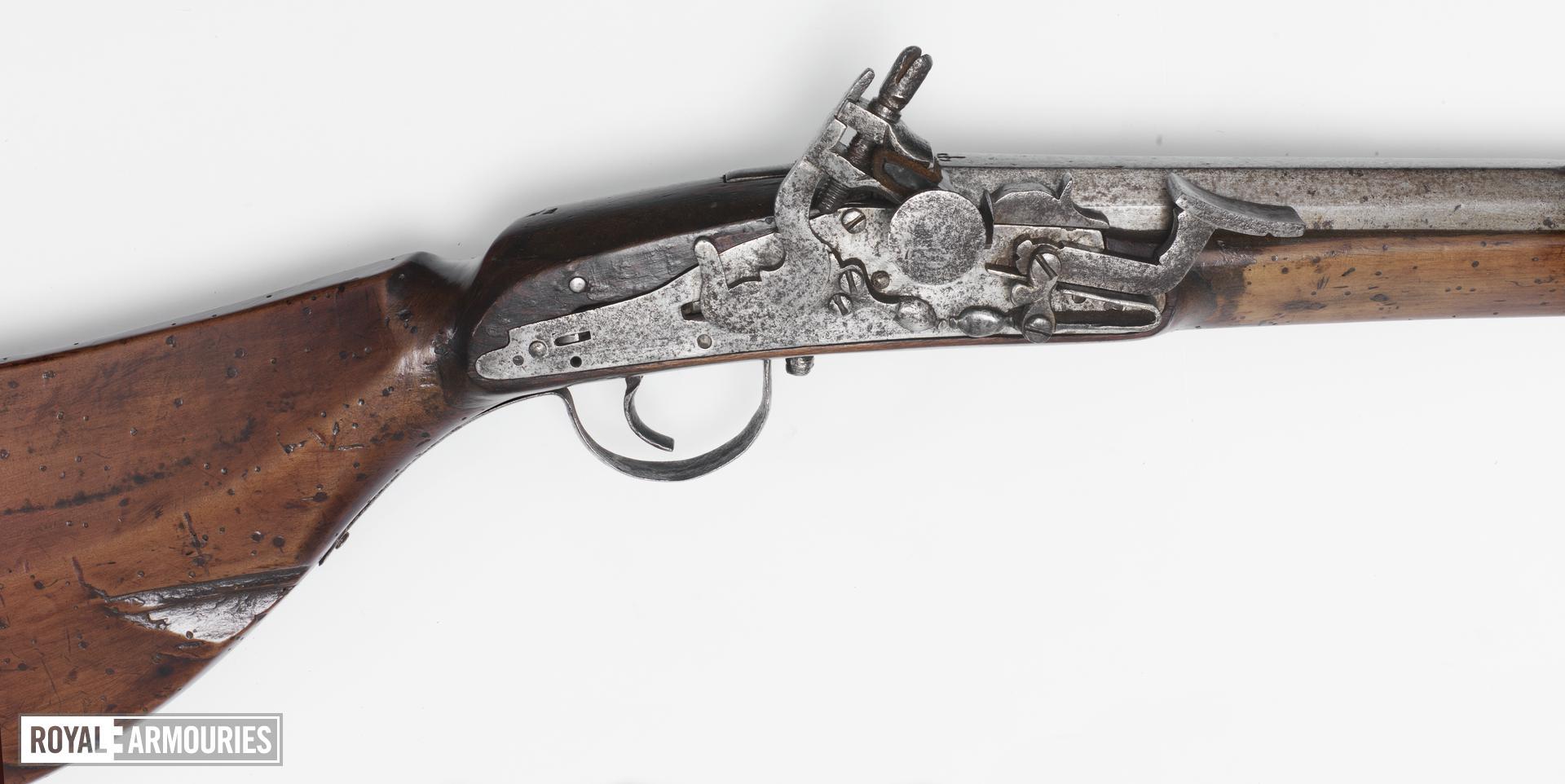 Flintlock gun Snaphaunce type