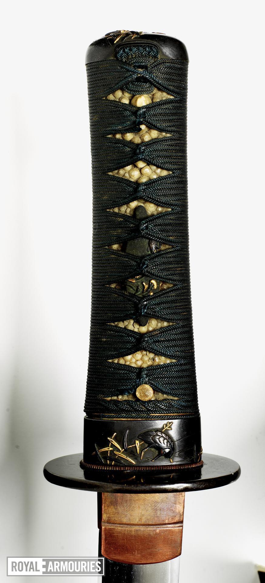 Sword (wakizashi) by Seshu ju Nagatsuna, with wakizashi mount.