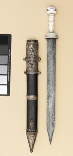 Thumbnail image of Gladius and scabbard Replica of IX.5583, Roman gladius and scabbard